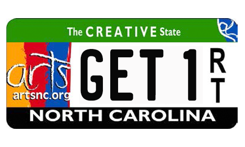 Arts NC License Plate